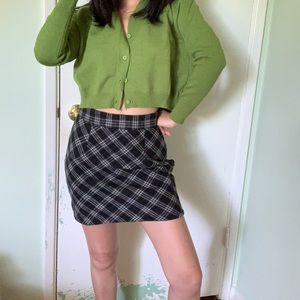 Wool plaid short skirt